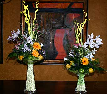 Double Center with Orchids in Little Rock AR, The Empty Vase
