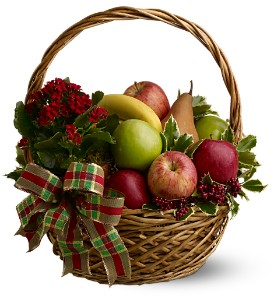 Holiday Fruit Basket in Lakeland FL, Petals, The Flower Shoppe