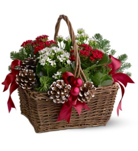Christmas Garden Basket in Calgary AB, All Flowers and Gifts