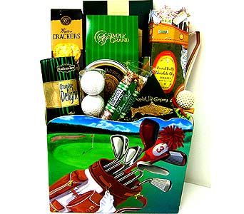 GF73 ''The Masters'' Golf Gourmet & Gift Basket in Oklahoma City OK, Array of Flowers & Gifts