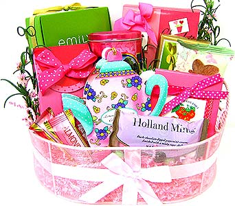 GF78 ''Sweet Surrender'' Gourmet Food Basket in Oklahoma City OK, Array of Flowers & Gifts
