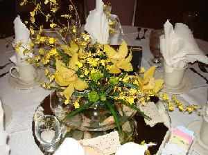 Yellow orchids in a bowl  in Fairless Hills PA, Flowers By Jennie-Lynne