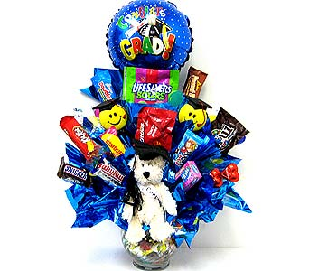 CB160 ''Graduation Bear Hugs'' Candy Bouquet in Oklahoma City OK, Array of Flowers & Gifts