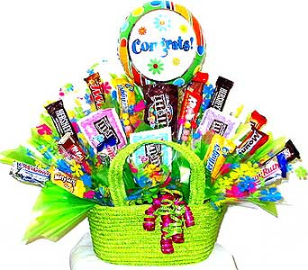 CB187 ''Way to Go'' Congratulations Candy Bouquet in Oklahoma City OK, Array of Flowers & Gifts