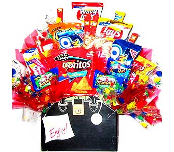 CB173 ''House Call'' Get Well Snack Food Arrangement in Oklahoma City OK, Array of Flowers & Gifts
