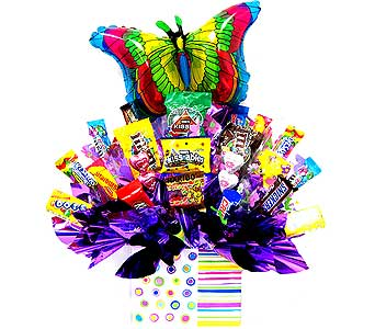 CB180 ''Sweet Comforts'' Butterfly Candy Bouquet in Oklahoma City OK, Array of Flowers & Gifts