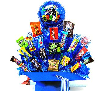 CB177 ''Graduation Cap'' Candy Bouquet in Oklahoma City OK, Array of Flowers & Gifts