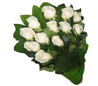 12 white roses in Scarborough ON, Helen Blakey Flowers