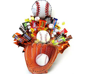 CB207 ''Baseball'' Candy & Cookie Bouquet in Oklahoma City OK, Array of Flowers & Gifts