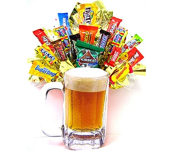 CB200 ''Eat, Drink & Be Merry'' Candy Bouquet in Oklahoma City OK, Array of Flowers & Gifts