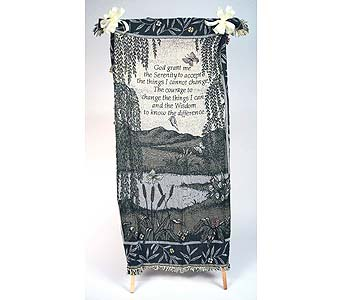 Serenity Prayer Comfort Throw in Indianapolis IN, Gillespie Florists