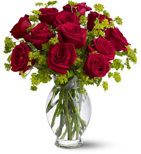 Teleflora's Dozen Sweet Roses in Mystic CT, The Mystic Florist Shop