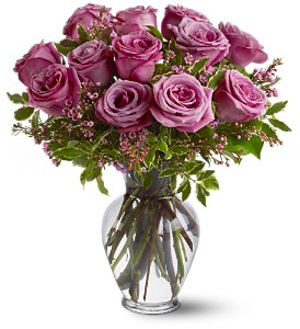 A Dozen Lavender Roses in Fairfield CT, Town and Country Florist