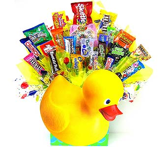 CB209  ''Ducky'' Candy Bouquet in Oklahoma City OK, Array of Flowers & Gifts