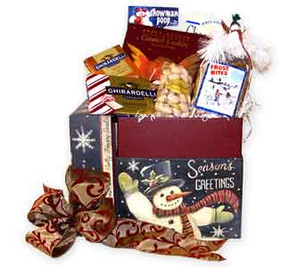 Season's Greetings Snowman Box in Raritan NJ, Angelone's Florist