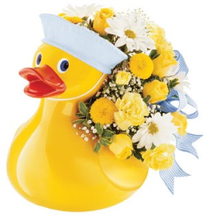 Teleflora's Just Ducky Bouquet for Boy in Chicago IL, Sauganash Flowers