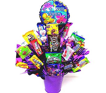CB216 ''Get Well Goodies'' Candy Bouquet in Oklahoma City OK, Array of Flowers & Gifts