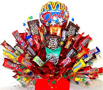CB218 ''Most Valuable Dad'' Candy Bouquet in Oklahoma City OK, Array of Flowers & Gifts