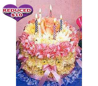 Flowers Happy Birthday Flower Cake from Stanleys Florist Same