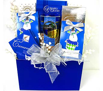 XGF127 ''Holiday Cheer'' Gourmet Basket in Oklahoma City OK, Array of Flowers & Gifts
