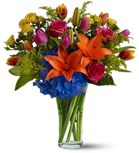 Burst of Color in New York NY, Fellan Florists Floral Galleria