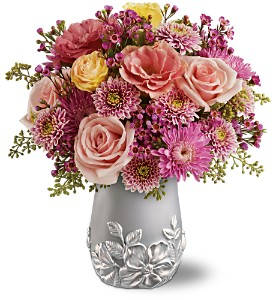 Teleflora's Silver Garden Bouquet in Rochester NY, Expressions Flowers & Gifts