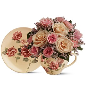 Teleflora's Victorian Teacup Bouquet in Greensboro NC, Sedgefield Florist & Gifts, Inc.