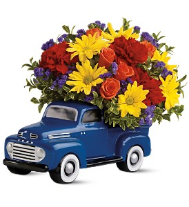 Teleflora's '48 Ford Pickup Bouquet in Houston TX, Village Greenery & Flowers