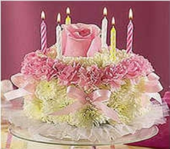 Birthday Flower Cake in Warren MI, Downing's Flowers & Gifts Inc.