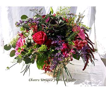 Blooming Garden Bouquet in Lake Forest CA, Cheers Floral Creations