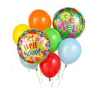 Get Well Balloon Bunch in Baltimore MD, Raimondi's Flowers & Fruit Baskets