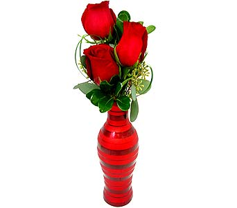FF102 ''Rose Love Notes'' Bud Vase in Oklahoma City OK, Array of Flowers & Gifts