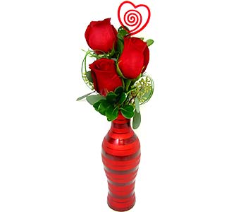 FF102V ''Rose Love Notes'' Bud Vase in Oklahoma City OK, Array of Flowers & Gifts