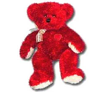 PLUSH165 ''Red Bear'' in Oklahoma City OK, Array of Flowers & Gifts