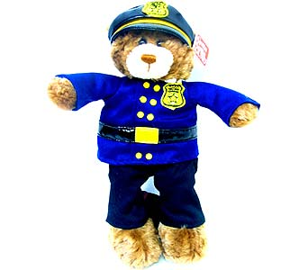 PLUSH145 ''Policeman Bear'' in Oklahoma City OK, Array of Flowers & Gifts
