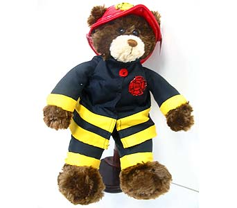 PLUSH146 ''Fireman Bear'' in Oklahoma City OK, Array of Flowers & Gifts