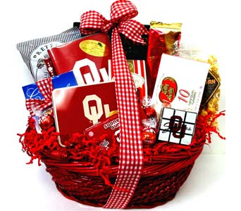 OU25 ''OU Food & Fun'' Gift Basket in Oklahoma City OK, Array of Flowers & Gifts