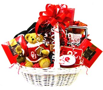 OU29 ''OU Extravaganza'' Gift Basket in Oklahoma City OK, Array of Flowers & Gifts