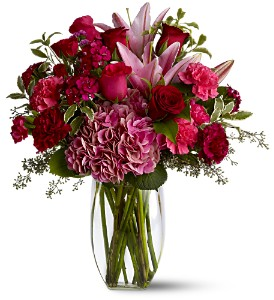 Burgundy Blush in Dover OH, Baker Florist, LLC