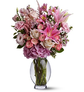 Teleflora's Pink Sonata in Lenexa KS, Eden Floral and Events