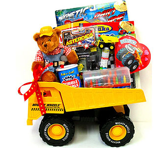 GB273 ''Truck On'' Tonka Truck Gift in Oklahoma City OK, Array of Flowers & Gifts