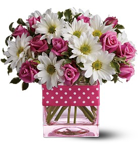 Teleflora's Polka Dots and Posies in Mooresville NC, All Occasions Florist & Boutique<br>704.799.0474