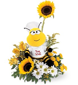 Teleflora's Bee Well Bouquet in Denton TX, Crickette's Flowers & Gifts