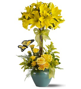 Lily Topiary Deluxe in Big Rapids, Cadillac, Reed City and Canadian Lakes MI, Patterson's Flowers, Inc.