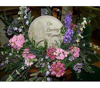 In Loving Memory Stepping Stone (Shown in Silk) in Johnstown PA, Westwood Floral