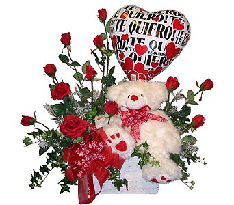 VGB99 ''Roses Are Red'' (Gift Bouquet) in Oklahoma City OK, Array of Flowers & Gifts