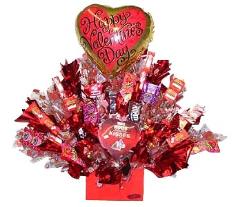 VCB14 ''Chocolate Overload'' (Candy Bouquet) in Oklahoma City OK, Array of Flowers & Gifts