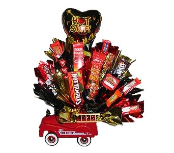 VCB13 ''Three Alarm Fire'' (Candy Bouquet) in Oklahoma City OK, Array of Flowers & Gifts