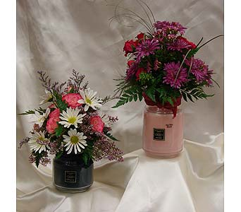 Root Candle Fresh Arrangment in Johnstown PA, Westwood Floral