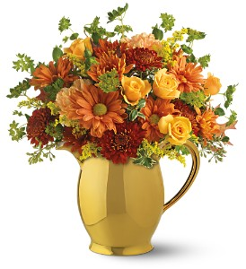 Teleflora's WILLIAMSBURG� Golden Pitcher in St. Petersburg FL, Flowers Unlimited, Inc